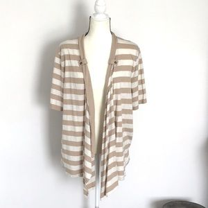 NWOT striped lightweight short sleeved Cardigan